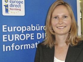 """Barbara Sterl leitet das Nürnberger Büro """"Europe Direct"""". 480 solcher Infozentren gibt es in den 28 EU-Staaten. Foto: cm"""