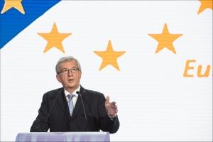 Jean-Claude Juncker während der Wahlnacht (25.5.2014) im Europaparlament  Foto: europarl.europa.eu